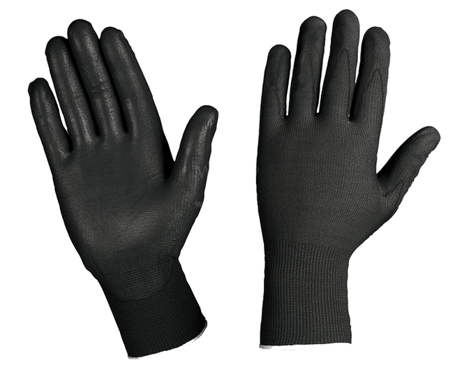 Nylon Gloves Black GS204