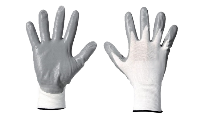 Nylon Gloves with Nitrile GS206