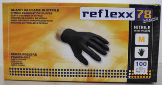 Disposable Nitrile Black Gloves GU158